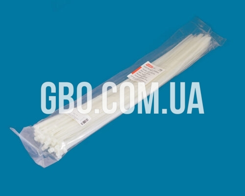Стяжка пластиковая 500х5,0мм белая (100 шт.) уп.
