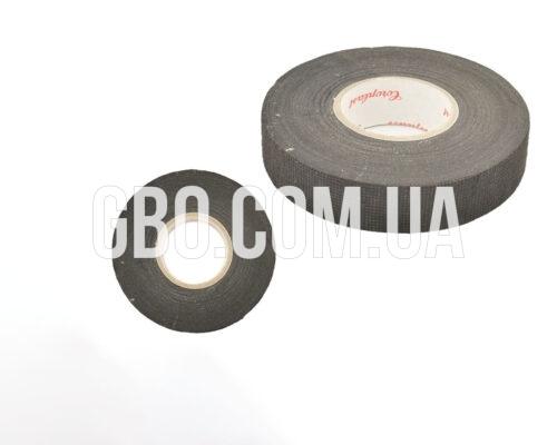 Изолента тканевая Coroplast, черная 25м (ворса)
