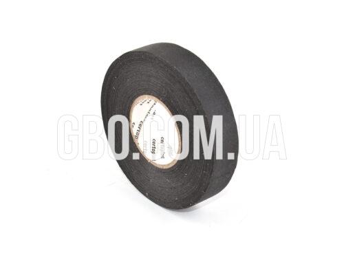Изолента лавсановая Certoplast, 19мм, черная 25м чёрная надпись