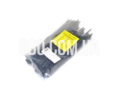 Стяжка пластиковая 200х5,0мм черная (100 шт.) уп.