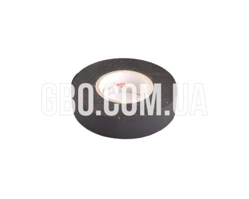 Изолента лавсановая Coroplast, 19мм, черная 15м термостойкая красная надпись
