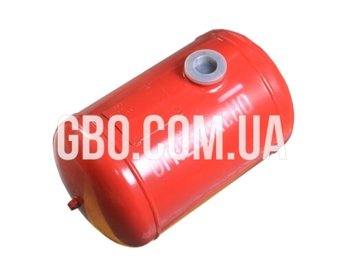 Баллон цилиндрический 30л 521х300мм, НЗГА (красный)
