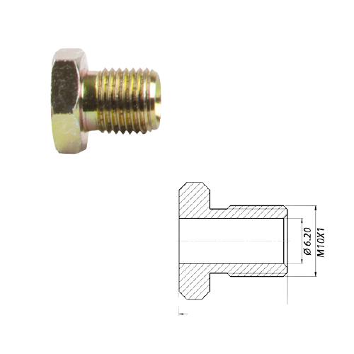 Штуцер метал M10-Ø6