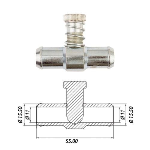 Дозатор газа 16х16 металл
