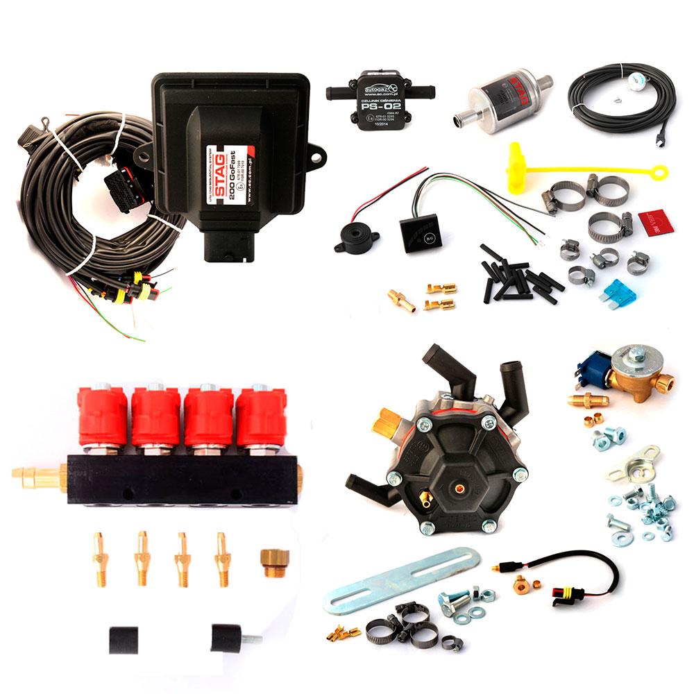 Миникомплект STAG-200 gofast с редуктором AC STAG R02 до 136 лс