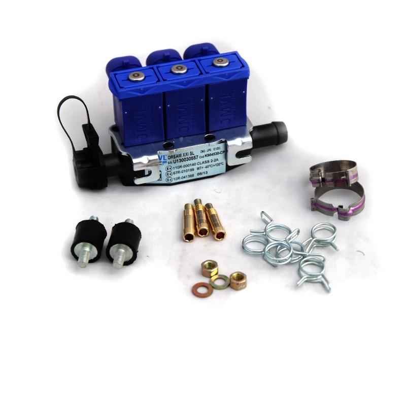 Форсунки OMVL 3 цил. 3 Ом с жиклерами и штуцерами в коллектор