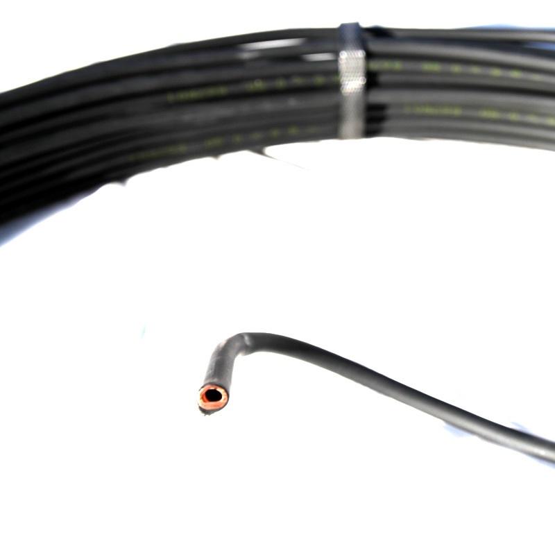 Трубка медная Silmet в пластиковой оплетке Ø8х0,8 (разрез)