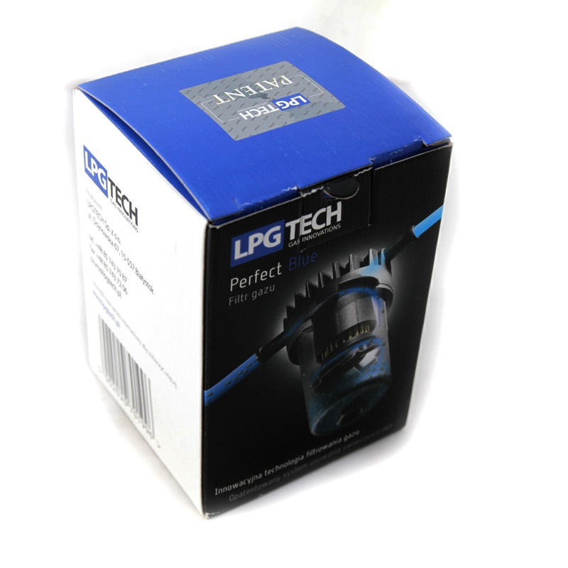 Фильтр паровой фазы Lpgtech Perfect blue Ø12/Ø12 с сменным фильтроэлементом 6011