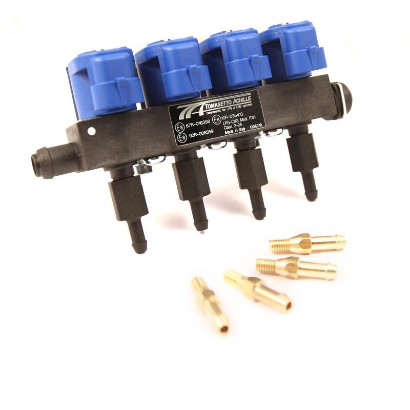 Форсунки Tomasetto mod. IT01, 4 цил. 2 Oм, со штуцерами в коллектор 6029