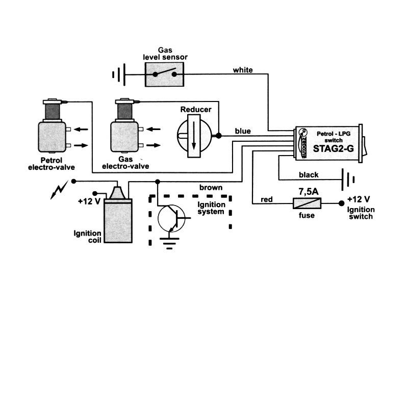 Переключатель газ-бензин STAG2-G карбюратор 6026