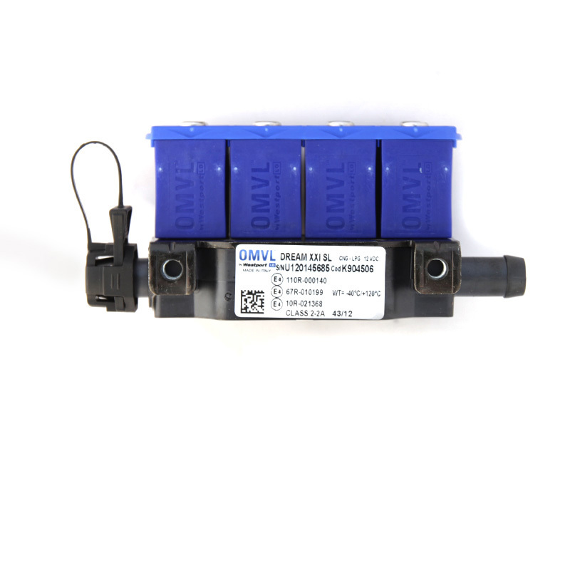 Форсунки OMVL 4 цил. 3 Ом с жиклерами и штуцерами в коллектор 6041