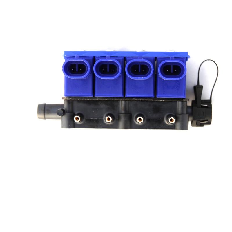 Форсунки OMVL 4 цил. 3 Ом с жиклерами и штуцерами в коллектор 6039