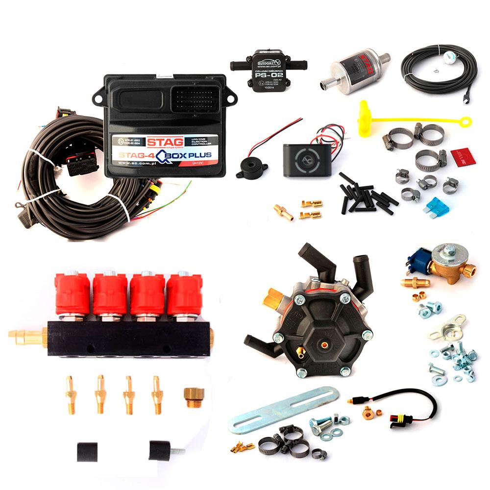 Миникомплект STAG-4 Qbox plus OBD с редуктором AC STAG R02 до 136 лс